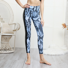 Load image into Gallery viewer, Hummingbird Snake Print Faux Leather Booty Scrunch Cropped Leggings
