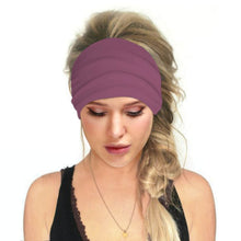Load image into Gallery viewer, Hummingbird Solid Color Multifunctional Headband - Dark Blush offers a secure fit to hold your hair back, and along with moisture-wicking fabric, allows you to stay fresh and focused on your workout. Perfect for all sorts of workout activities. Also suitable for daily wear as a hair band, head wrap, bandana, face cover, morning makeup and nighttime moisturizing.