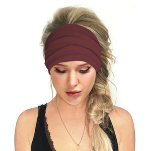 Hummingbird Solid Color Multifunctional Headband - Burgundy offers a secure fit to hold your hair back, and along with moisture-wicking fabric, allows you to stay fresh and focused on your workout. Perfect for all sorts of workout activities. Also suitable for daily wear as a hair band, head wrap, bandana, face cover, morning makeup and nighttime moisturizing.