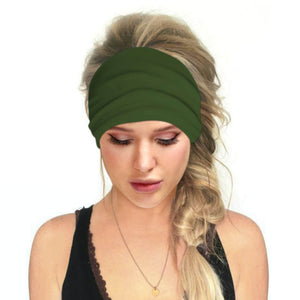 Hummingbird Solid Color Multifunctional Headband - Moss Green offers a secure fit to hold your hair back, and along with moisture-wicking fabric, allows you to stay fresh and focused on your workout. Perfect for all sorts of workout activities. Also suitable for daily wear as a hair band, head wrap, bandana, face cover, morning makeup and nighttime moisturizing.
