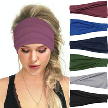 Load image into Gallery viewer, Hummingbird Solid Color Multifunctional Headband (7 Colors) offers a secure fit to hold your hair back, and along with moisture-wicking fabric, allows you to stay fresh and focused on your workout. Perfect for all sorts of workout activities. Also suitable for daily wear as a hair band, head wrap, bandana, face cover, morning makeup and nighttime moisturizing.