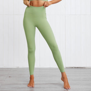 This Solid Booty Scrunch Leggings Set - Matcha Green is made for your favorite medium-impact workouts. The sports bra offers flattering v-neck silhouette. Widened underband at center front and tall sides, as well as racerback design provides additional support. A pair of booty scrunch leggings is high waisted fit, accentuating mid to lower body curves. This Solid Booty Scrunch Leggings Set is made of moisture-wicking, soft and stretchy fabric. Perfect for all sorts of workout activities.