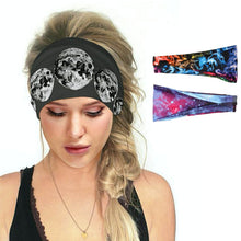 Load image into Gallery viewer, Hummingbird Space Printed Multifunctional Headband (3 Patterns) offers a secure fit to hold your hair back, and along with moisture-wicking fabric, allows you to stay fresh and focused on your workout. Perfect for all sorts of workout activities. Also suitable for daily wear as a hair band, head wrap, bandana, face cover, morning makeup and nighttime moisturizing.