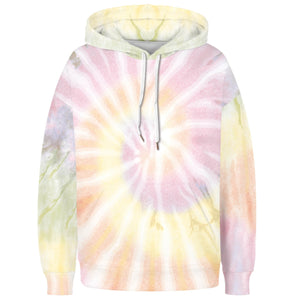 Spiral Tie Dye Long Sleeve Kangaroo Pocket Hoodie - Spiral D features a drawstring, kangaroo pocket, and ribbed cuffs and hem. Digital printing technology keeps tie dye patterns intact after wear and tear. Perfect for any daily activities from workout to casual lounging. Complete the look with a pair of joggers, biker shorts, jeans and more because it goes with almost anything in your closet!