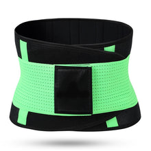 Load image into Gallery viewer, Hummingbird Elastic Velcro Gym Belts - Neon Green stabilize your torso and improve lifting safety by engaging and activating your abs. Protects and strengthens your back with comfortable built-in boning stripes. Reduces back pain and helps you perform fitness workouts better.