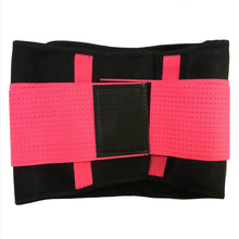 Load image into Gallery viewer, Hummingbird Elastic Velcro Gym Belts - Neon Pink stabilize your torso and improve lifting safety by engaging and activating your abs. Protects and strengthens your back with comfortable built-in boning stripes. Reduces back pain and helps you perform fitness workouts better.