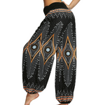 Hummingbird Third Eye Ruched Loose Yoga Pants made of fast dry, soft and breathable material, perfect for meditation, dancing, yoga, summer vacation and street wear