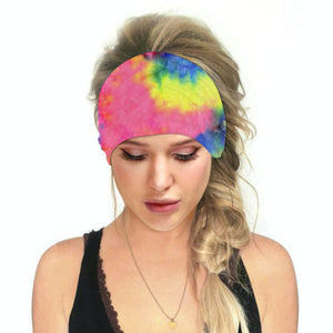 Hummingbird Tie Dye - A Print Multifunctional Headband offers a secure fit to hold your hair back, and along with moisture-wicking fabric, allows you to stay fresh and focused on your workout. Perfect for all sorts of workout activities. Also suitable for daily wear as a hair band, head wrap, bandana, face cover, morning makeup and nighttime moisturizing. This Tie Dye Print Multifunctional Headband is lightweight, breathable, odor control, stretchy and soft.