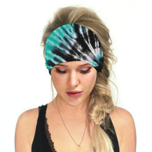 Load image into Gallery viewer, Hummingbird Tie Dye - C Print Multifunctional Headband offers a secure fit to hold your hair back, and along with moisture-wicking fabric, allows you to stay fresh and focused on your workout. Perfect for all sorts of workout activities. Also suitable for daily wear as a hair band, head wrap, bandana, face cover, morning makeup and nighttime moisturizing. This Tie Dye Print Multifunctional Headband is lightweight, breathable, odor control, stretchy and soft.