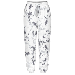 Hummingbird Tie Dye Print Drawstring Joggers - Marble features loose fit with elastic waistband and cuffed hem, an adjustable drawstring and side pockets. Perfect for any daily activities from workout to casual lounging. Digital printing technology keeps tie dye patterns intact after wear and tear. Complete the look with a sweatshirt, sports bra, crop top, crop tank and more because they go with almost anything in your closet!