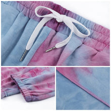 Load image into Gallery viewer, Hummingbird Pastel Tie Dye Drawstring Joggers (3 Colors) features loose fit with elastic waistband and cuffed hems, an adjustable drawstring and side pockets. Perfect for any daily activities from workout to casual lounging. Due to the nature of tie dye, each joggers are slightly different and have their unique patterns, which means you can't find the same joggers anywhere else! Made of stretchy and soft material.