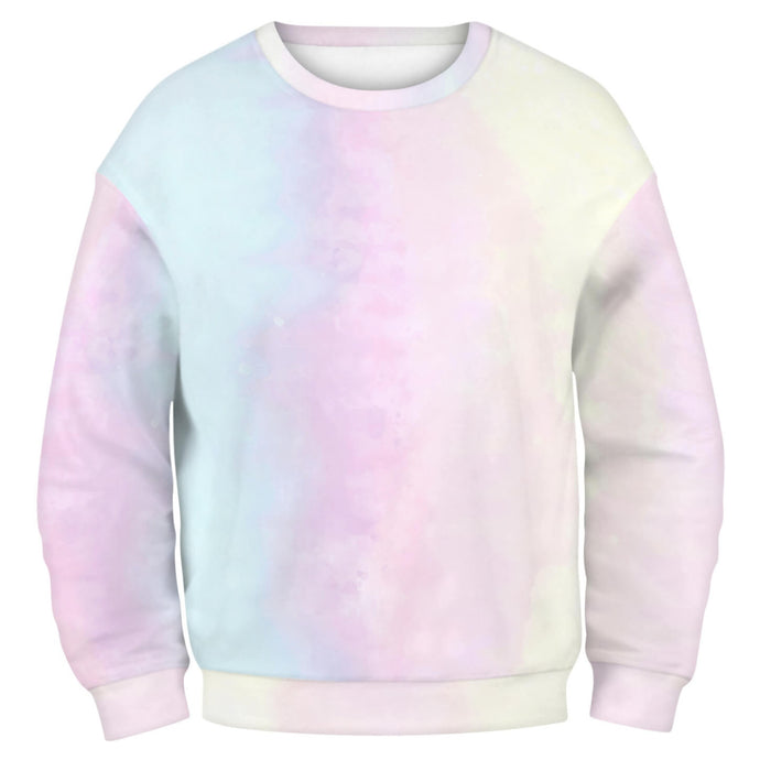 Hummingbird Tie Dye Print Long Sleeve Pullover Sweatshirt - Pastel A features a crew neckline, and banded cuffs and hem. Digital printing technology keeps tie dye patterns intact after wear and tear. Perfect for any daily activities from workout to casual lounging. Complete the look with a pair of joggers, biker shorts, jeans and more because it goes with almost anything in your closet!