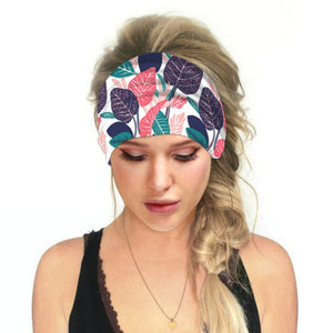 Hummingbird Tropical Printed - Leaf A Multifunctional Headband (7 Patterns) offers a secure fit to hold your hair back, and along with moisture-wicking fabric, allows you to stay fresh and focused on your workout. Perfect for all sorts of workout activities. Also suitable for daily wear as a hair band, head wrap, bandana, face cover, morning makeup and nighttime moisturizing.