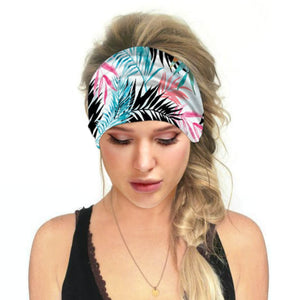 Hummingbird Tropical Printed - Leaf E Multifunctional Headband (7 Patterns) offers a secure fit to hold your hair back, and along with moisture-wicking fabric, allows you to stay fresh and focused on your workout. Perfect for all sorts of workout activities. Also suitable for daily wear as a hair band, head wrap, bandana, face cover, morning makeup and nighttime moisturizing.