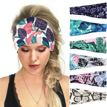 Load image into Gallery viewer, Hummingbird Tropical Printed Multifunctional Headband (7 Patterns) offers a secure fit to hold your hair back, and along with moisture-wicking fabric, allows you to stay fresh and focused on your workout. Perfect for all sorts of workout activities. Also suitable for daily wear as a hair band, head wrap, bandana, face cover, morning makeup and nighttime moisturizing.