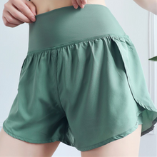 Load image into Gallery viewer, Hummingbird Ultralight Double Layer High-rise Sports Shorts