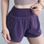Hummingbird Ultralight Double Layer High-rise Sports Shorts
