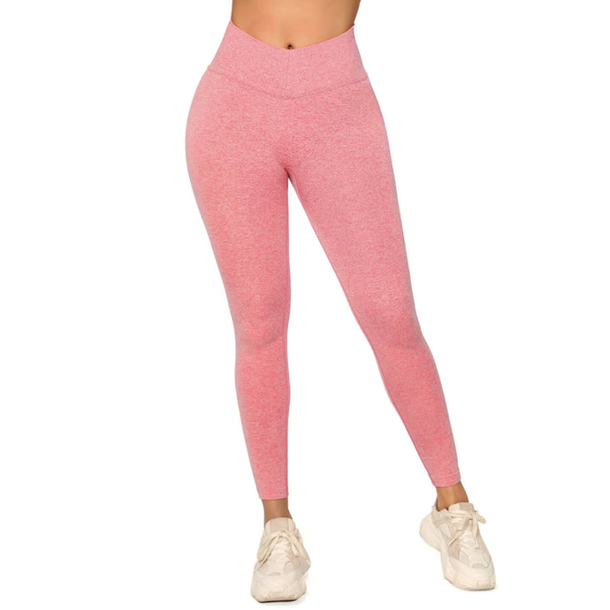 Show Off Your Toned Abs with These Hummingbird V Waist High-Rise Seamless Leggings - Heather Pink. V cut front waistband design highlights your toned abs. High-rise widened waistband lies flat against your skin and won't dig in. Solid color with underbutt mesh panels is flattering and attention-grabbing. Seamless fabrication reduces chafing during workout.