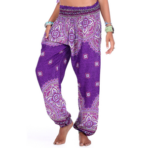 Hummingbird Mandala Print Loose Yoga Pants