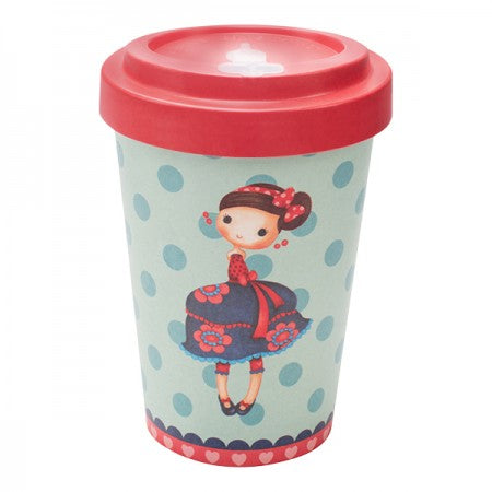 TAZZA IN BAMBOO SYBILE CHERRIES RED 400ML