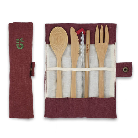Set di Posate in Bamboo