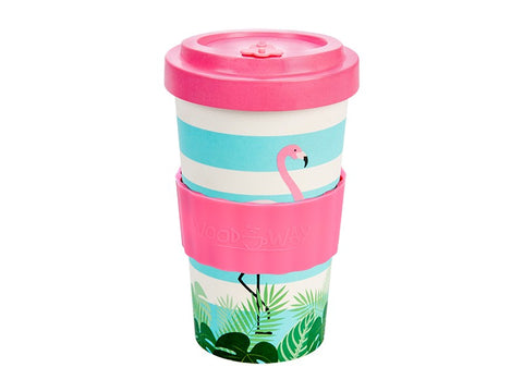 TAZZA IN BAMBOO FLAMINGO PINK 500ML