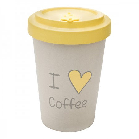 TAZZA IN BAMBOO I LOVE COFFEE 400ML