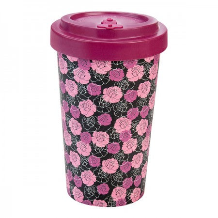 TAZZA IN BAMBOO ROSES PURPLE 500ML