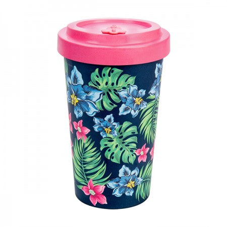 TAZZA IN BAMBOO TROPICAL PINK 500ML