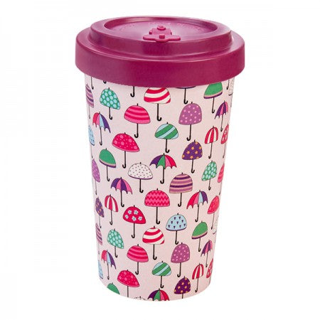 TAZZA IN BAMBOO UMBRELLAS PURPLE 500ML - Cuoreinfascia