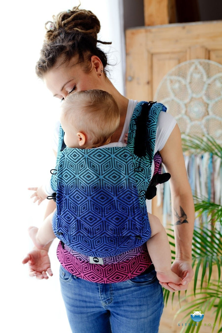 Little Frog Ergonomic Carrier STANDARD - DARK AURORA Cube - Cuoreinfascia