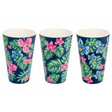 SET 3 BICCHIERI IN BAMBOO TROPICAL - Cuoreinfascia