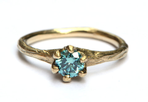 Blue Nymph Engagement Ring