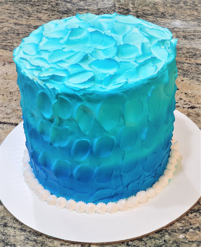 Ombre Waves Birthday Cake