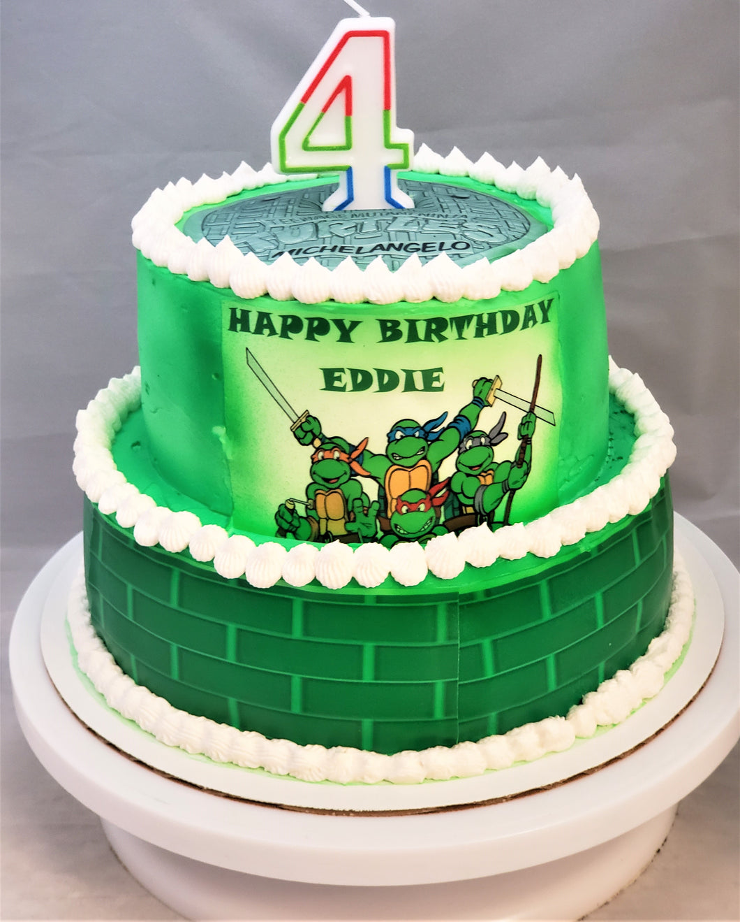 Surprising Teenage Mutant Ninja Turtle Birthday Cake Baked Cup Birthday Cards Printable Riciscafe Filternl