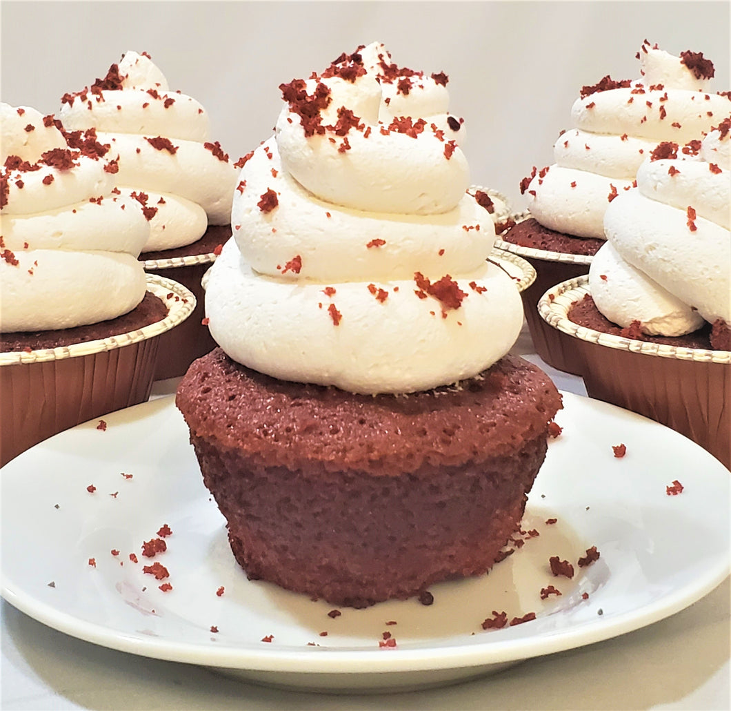 Dozen Red Velvet Traditional Cupcakes