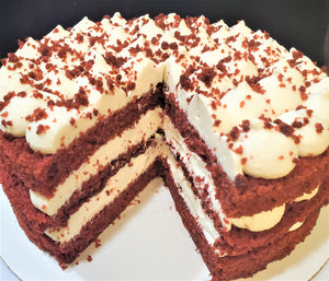 Classic Red Velvet Traditional Cake 8 Inch