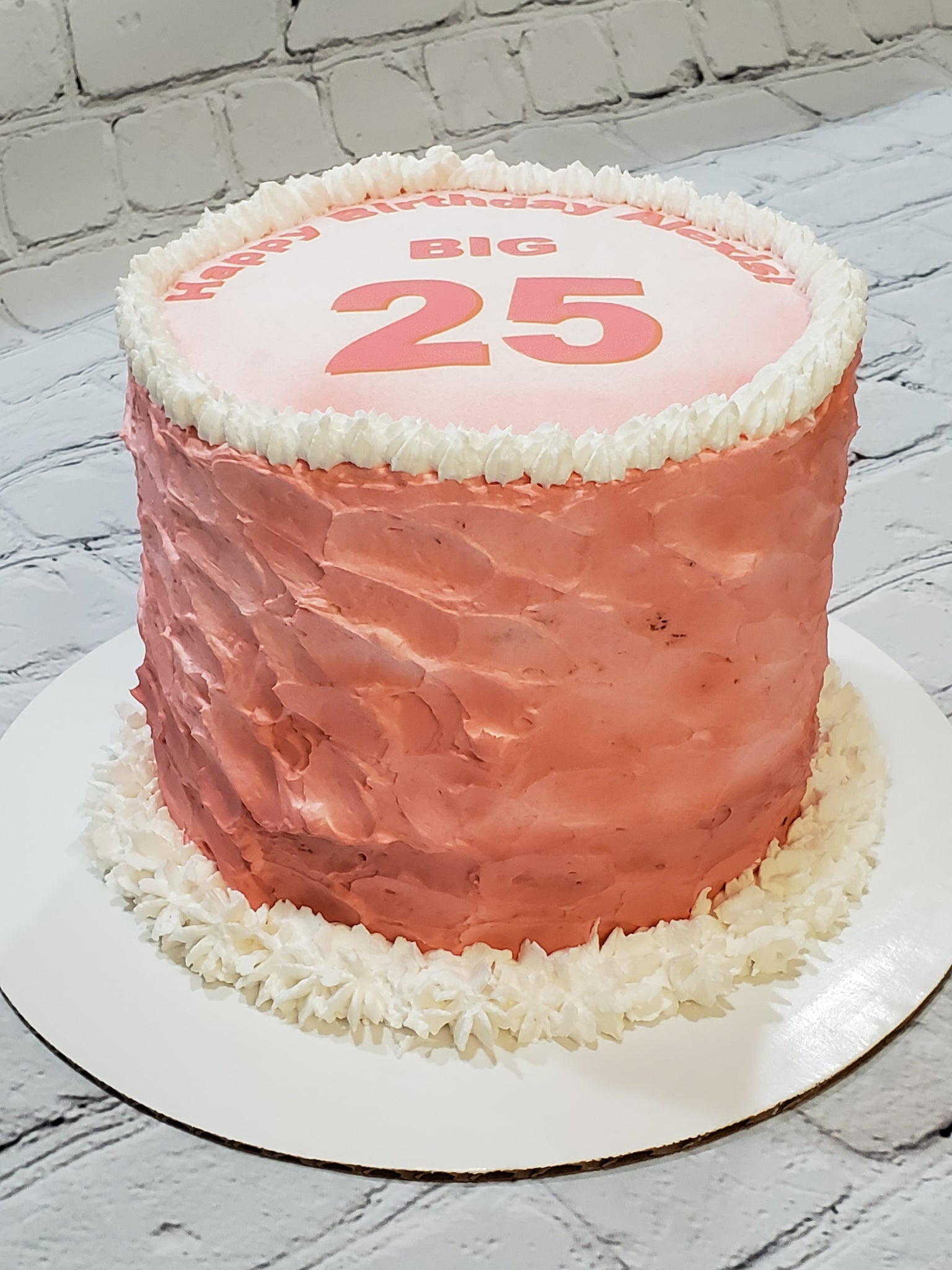 Terrific Pretty Pink And Perfect Birthday Cake Baked Cup Funny Birthday Cards Online Elaedamsfinfo