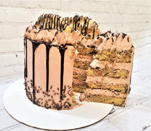 Load image into Gallery viewer, CHOCOLATE CHIP BIRTHDAY CAKE WITH WHIPPED CHOCOLATE BUTTERCREAM