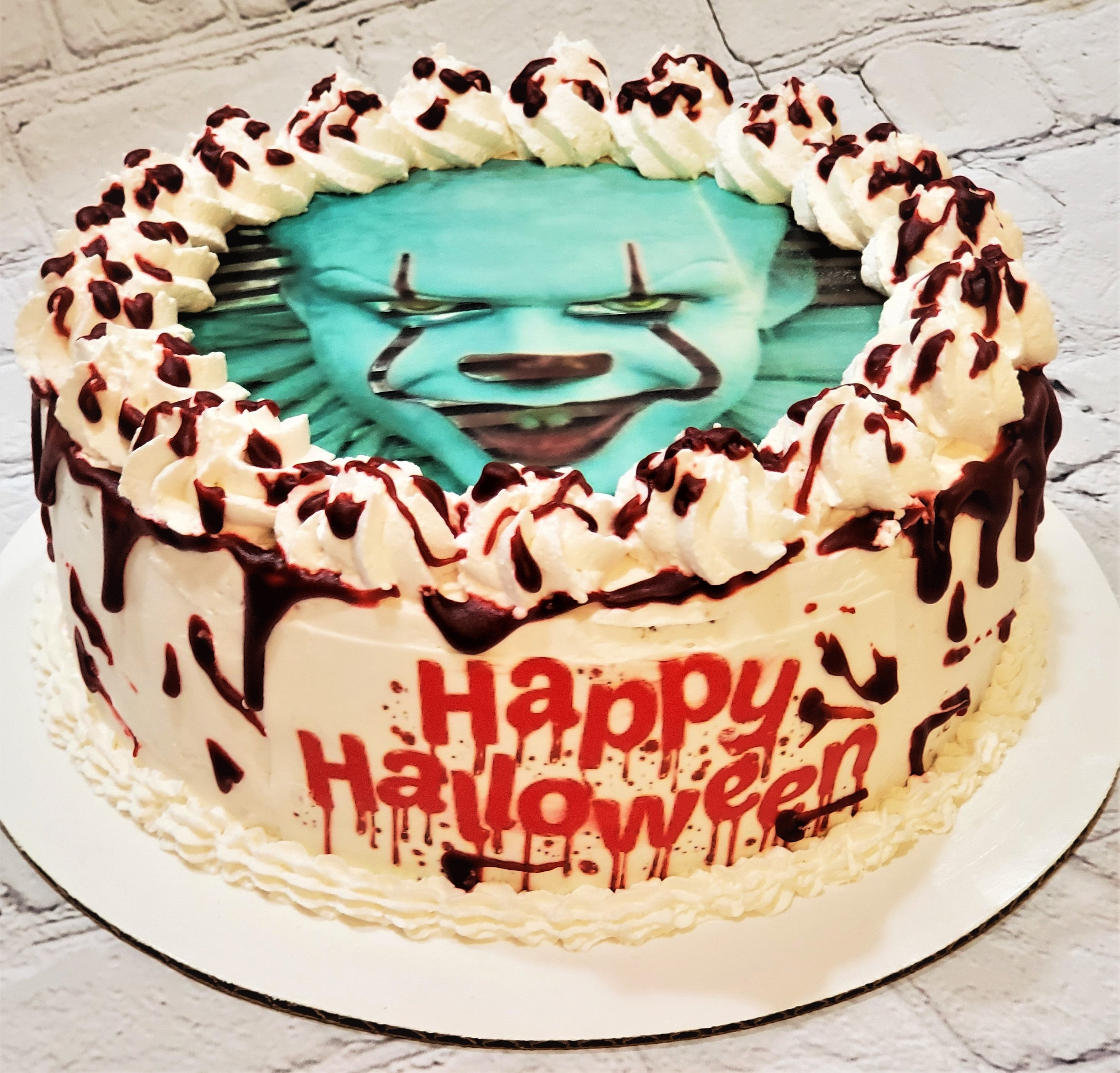 Awesome Pennywise Scary Halloween Cake Baked Cup Funny Birthday Cards Online Elaedamsfinfo