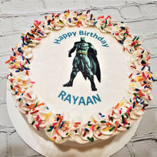 Load image into Gallery viewer, Happy Birthday Batman Cake