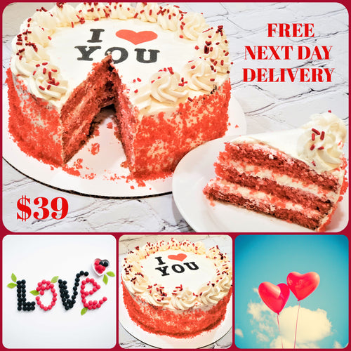Valentine's Day  I Love You  Cake