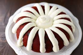 Red Velvet Bundt Cake Pound Cake with Cream Cheese Frosting