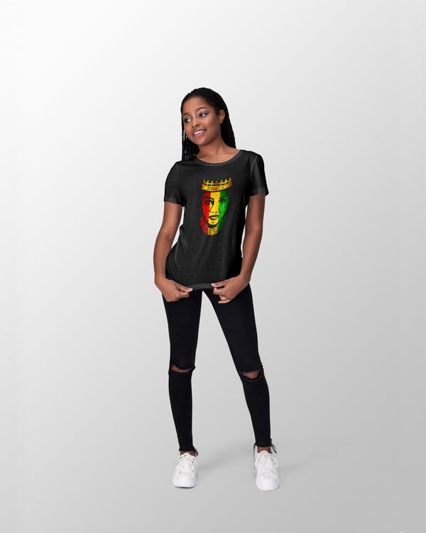 African Queen Women's Slim Fit T-Shirt - Coutfits