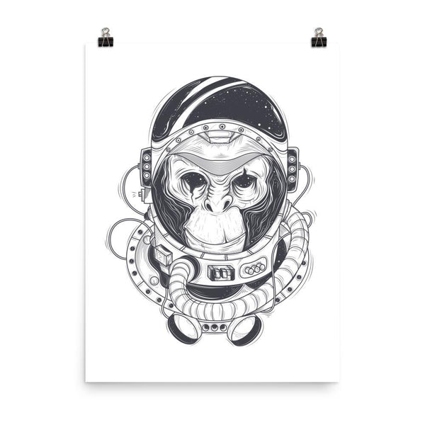 Chimpanzee astronaut Poster - Coutfits