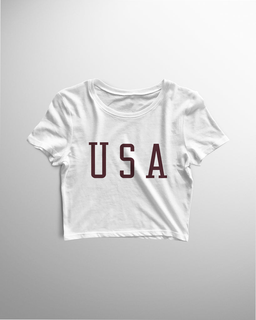 USA Women's Crop Top - Coutfits