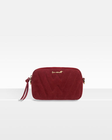 Belt Bag Suede Red