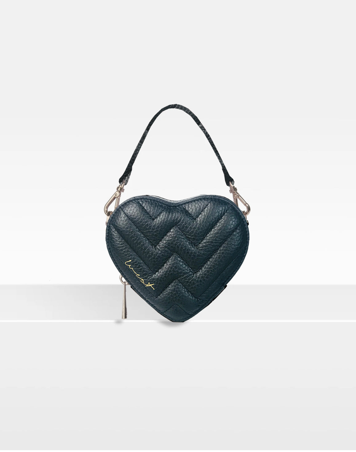 Mini Heart Bag Black