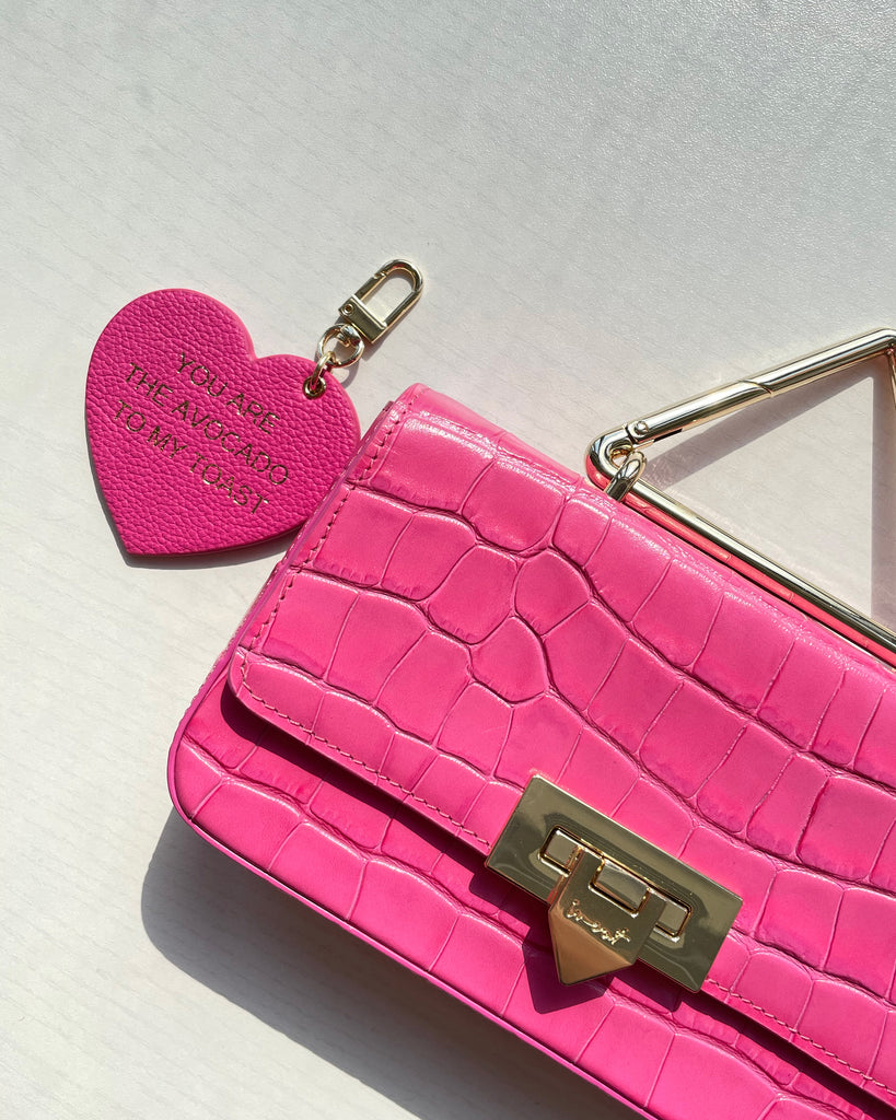 Heart Charm - Pink