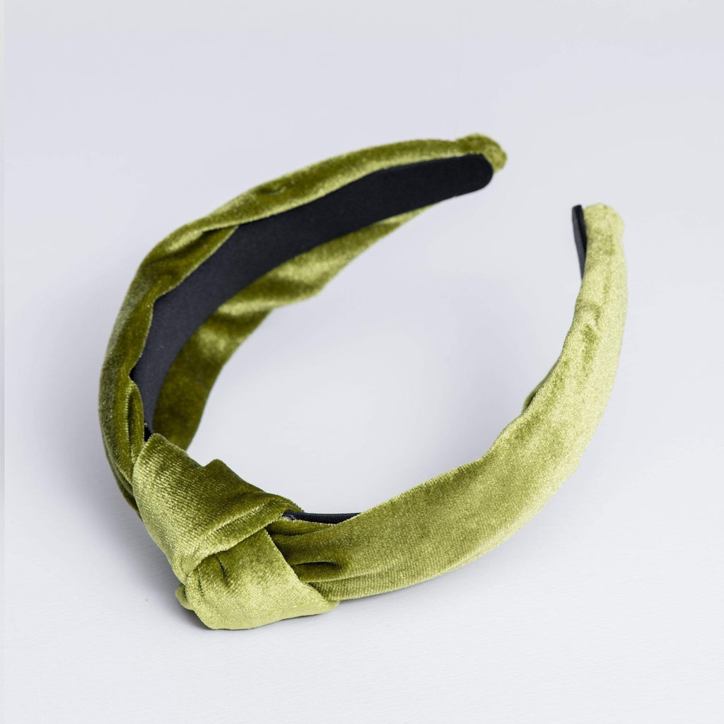 We Eat Avocado Toast Accessories Lime Headband Knot Velvet Lime